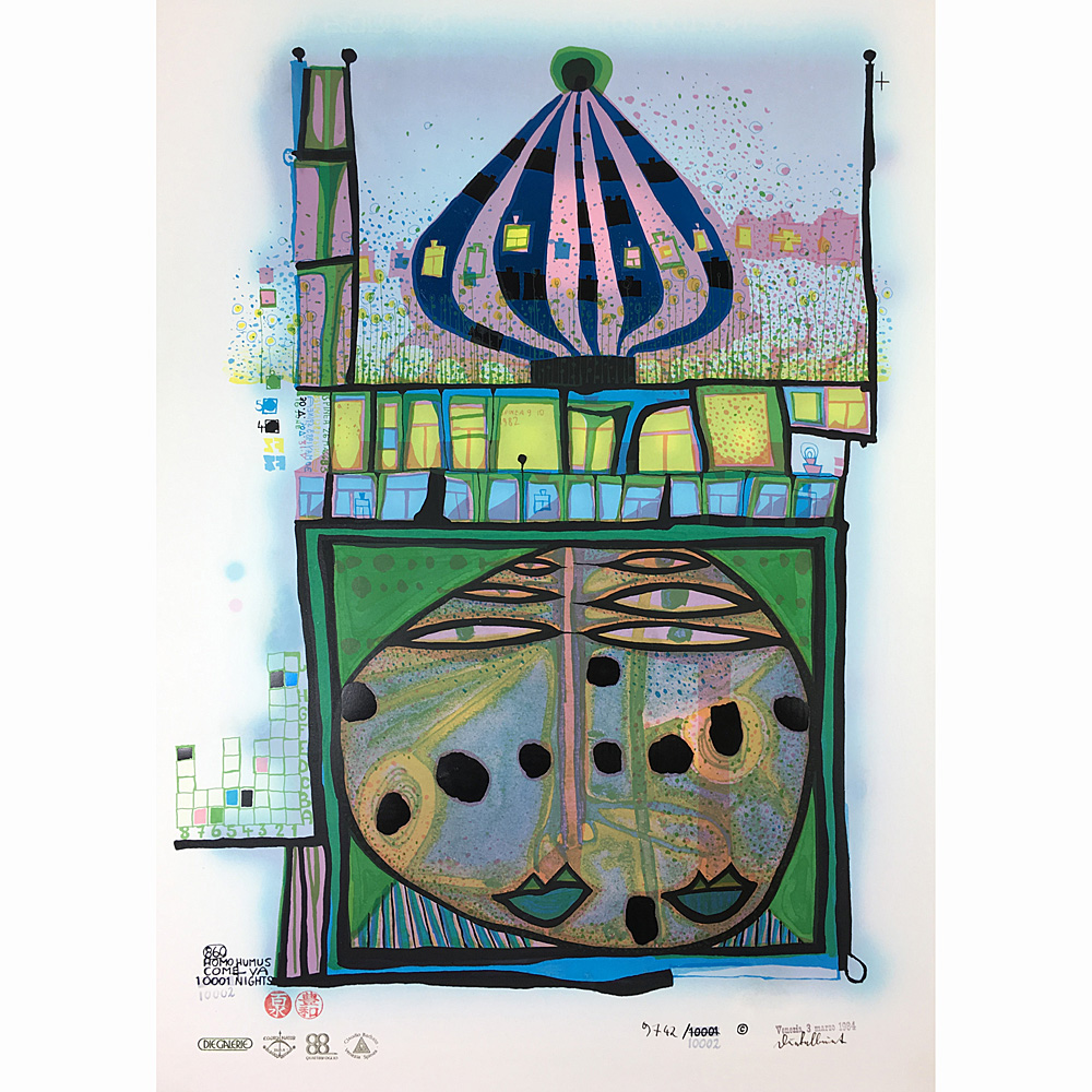 F. Hundertwasser – Homo humus come va 10.001 nights