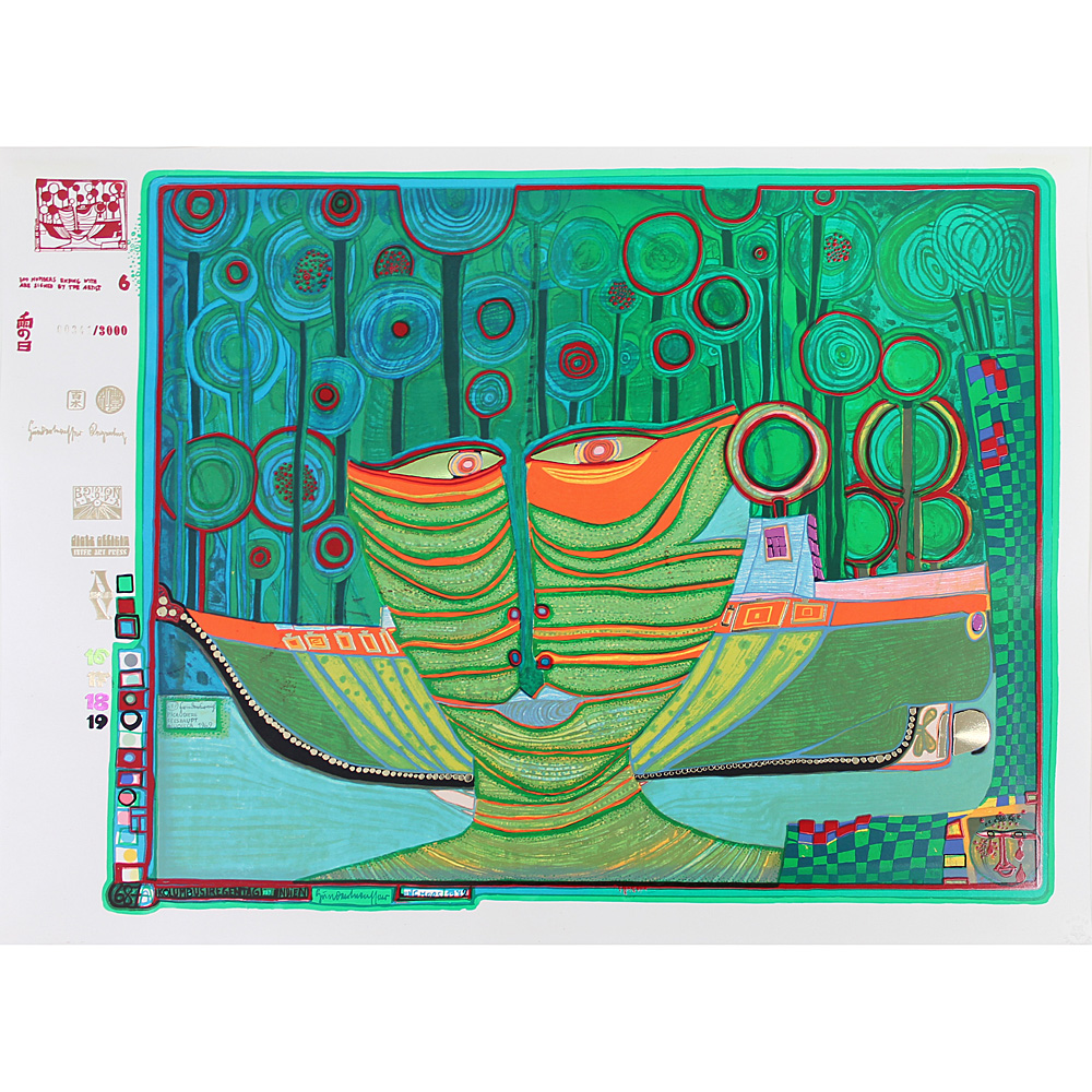 F. Hundertwasser – Rainy Day: Columbus Rainy Day In India